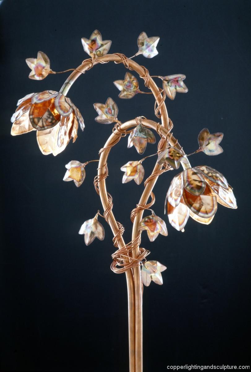 Copper Lighting Double Nodding Peony