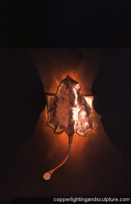 artscapelighting-copper-art-MAPLE LEAF SCONCE