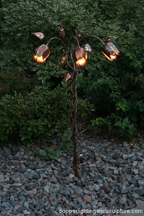 artscapelighting-copper-art-Trumpet Vine