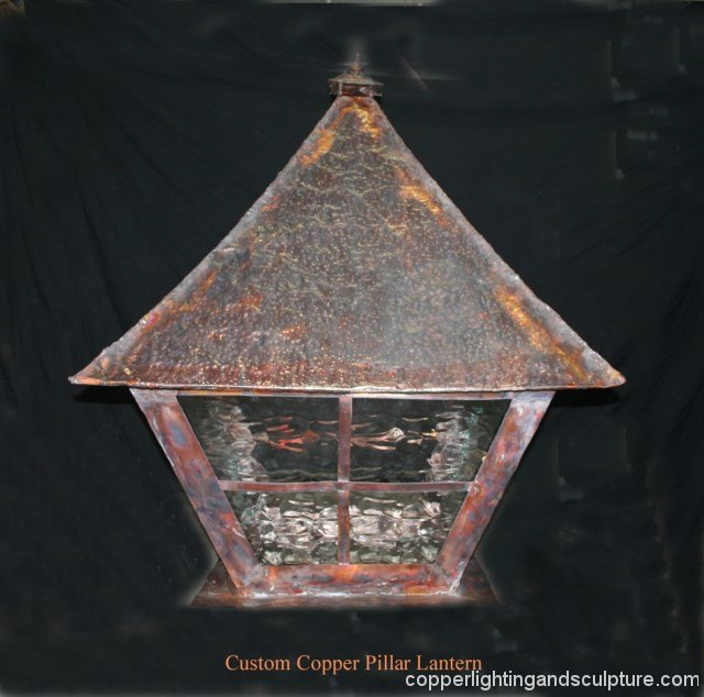 artscapelighting-copper-art-Custom Pillar Lantern