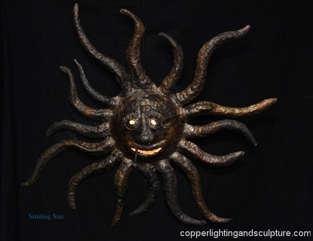 artscapelighting-copper-art-Smiling Sun
