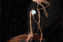 artscapelighting-copper-art-Blue Heron in Light
