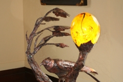 artscapelighting-copper-art-Custom Sharp Shinned Hawk table lamp