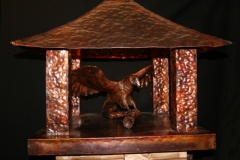 artscapelighting-copper-art-Eagle Pillar Top