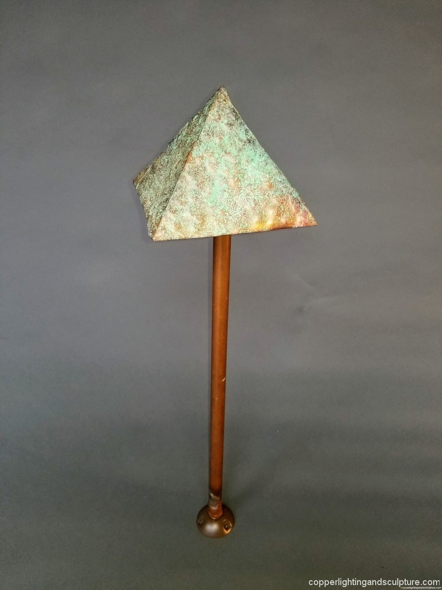 Copper Lighting Pyramid, Green