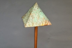 Copper Lighting Pyramid, Green